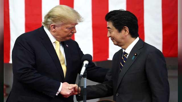 Trump renews criticism of Japan-US alliance before G20 summit