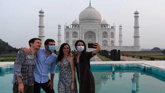 Taj Mahal reopens even as India Covid-19 cases soar