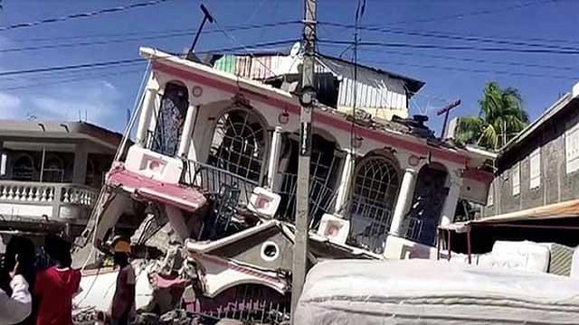 Haiti quake survivors cry for help as death toll nears 2,000