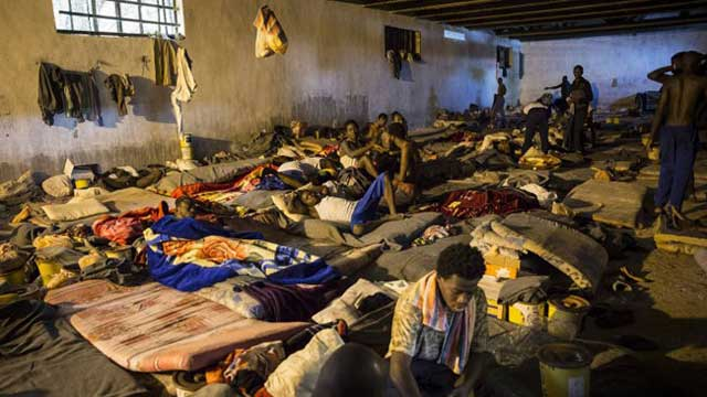 লিবিয়ায় বাংলাদেশী দালালের ক্যাম্পে আটক অর্ধশতাধিক
