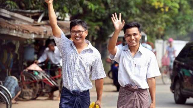2 Reuters reporters jailed in Myanmar freed