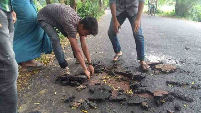 Carpeting can removed with hands from Kaliganj-Dak Bunglow road