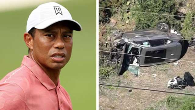Tiger Woods in hospital after major car crash