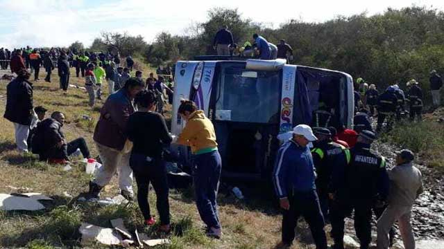 Bus carrying retirees crashes in Argentina, 13 dead
