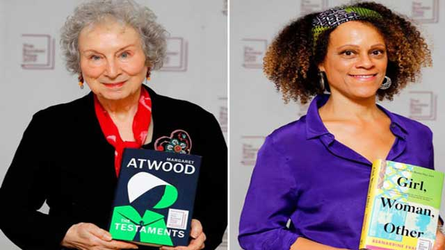 Margaret Atwood and Bernardine Evaristo joint winners of Booker Prize