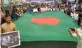 শোভাযাত্রায় অংশ নিতে নয়াপল্টনে জড়ো হচ্ছেন বিএনপি নেতাকর্মীরা