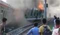উল্লাপাড়ায় ট্রেন লাইনচ্যুত হয়ে পুড়ে গেছে ৪ বগি, আহত  ২০ (ভিডিও)