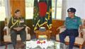সেনাবাহিনী প্রধানের সঙ্গে ডিএমপি কমিশনারের সাক্ষাৎ