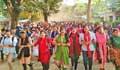 উপাচার্যবিরোধী আন্দোলন: জাবিতে হল না ছাড়ার ঘোষণা আন্দোলনকারীদের