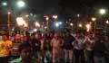 খালেদা জিয়ার মুক্তির দাবিতে রাজধানীতে বিএনপির মশাল মিছিল