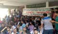 দাবি আদায়ে ঢাবি ভিসির কার্যালয়ের সামনে ছাত্রদলের অবস্থান