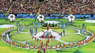 রঙিন আয়োজনে শুরু ফুটবল বিশ্বকাপ