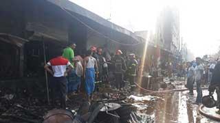 Malibagh kitchen market fire under control