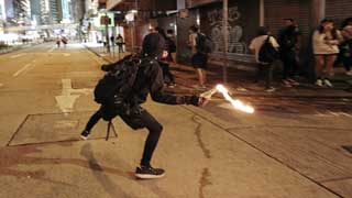 Hong Kong police arrest over 200 people, seize 188 petrol bombs in Saturday's violence