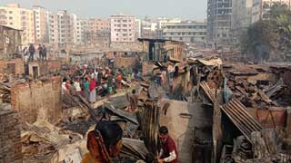 Mirpur slum fire doused