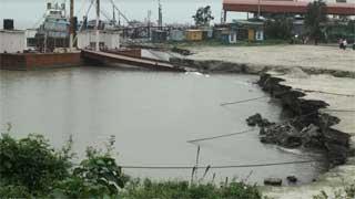 Padma River erosion puts Paturia ferry terminal at risk