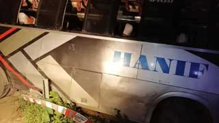 Woman killed, 17 hurt in Thakurgaon bus plunge