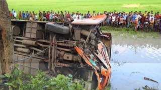 Three killed, 20 injured in Magura road accident