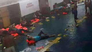 245 rescued from burning ferry in Philippine waters; 3 dead