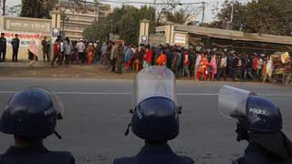 RMG workers still fearful of dismissal; security heightened in Ashulia