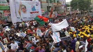 নয়াপল্টনে বিএনপি নেতাকর্মীদের ঢল