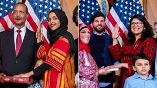 কুরআন হাতে শপথ নিলেন যুক্তরাষ্ট্রের দুই মুসলিম নারী কংগ্রেসম্যান