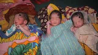 একসঙ্গে ৩ সন্তানের জন্ম দিলেন মাগুরার রাশিদা