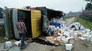 3 of a family killed as truck overturns