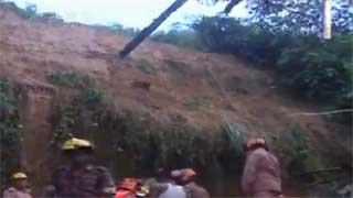 Rain-induced landslide, wall collapse claim 4 lives