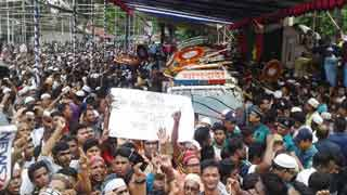 Ershad's body taken to Rangpur