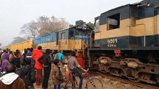 Dhaka's rail link with other parts became normal