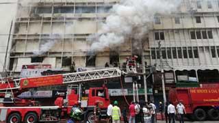 Fire breaks out in Banani building