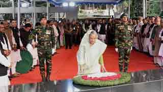 Hasina pays homage to Bangabandhu on historic Mar 7