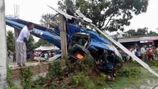 Faridur Reza, 5 others unhurt in Rajshahi chopper crash