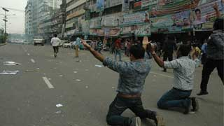 Police fire blanks rounds first