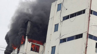 Fire at Minister Refrigerator warehouse in Gazipur
