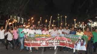 BNP takes out torch procession seeking Khaleda Zia's release