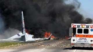 US military plane crashes with 9 aboard