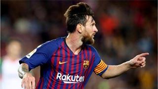Messi brace inspires Barca