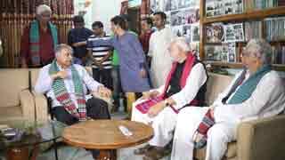 Dr Kamal Hossain meets Kader Siddique