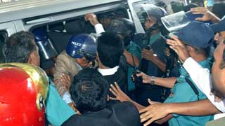 Barrister Mainul assaulted by AL men at court