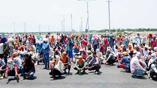 Indians at Rampal power plant launch protest to go home