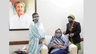 Hasina takes COVID-19 vaccine