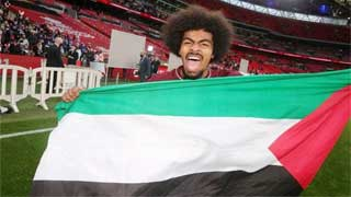 Hamza shows support for Palestine after Leicester's FA Cup win