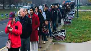 Americans vote in 'poll of a lifetime'