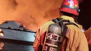 California boat fire: 33 missing near Santa Cruz island