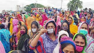 RMG workers protest over arrears, lack of safety measures in Gazipur