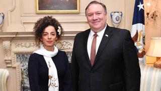 Secretary Pompeo meets Iranian Women's rights activist Masih Alinejad