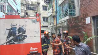 Building burnt in Banglamotor