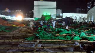 1 killed in Baitul Mukarram Mosque pandal collapse